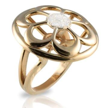 DIAMOND 18K ROSE GOLD RING