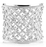 DIAMOND 18K WIDE CUFF BRACELET