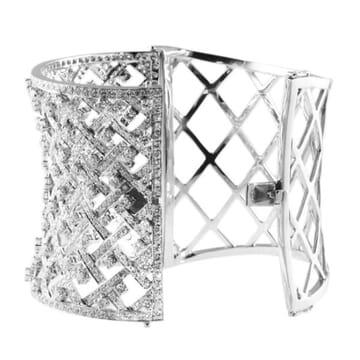 DIAMOND 18K WIDE CUFF BRACELET