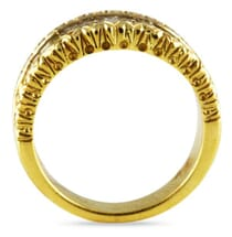 2.02 CT BAGUTTE DIAMOND YELLOW GOLD WEDDING BAND