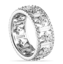 2.25 CT ROUND AND BAGUETTE DIAMOND WHITE GOLD ETERNITY BAND