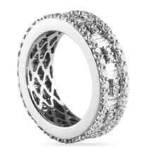 2.75 CT BAGUETTE AND ROUND DIAMOND ETERNITY BAND