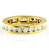 1.90 CT DIAMOND CHANNEL SET YELLOW GOLD ETERNITY BAND