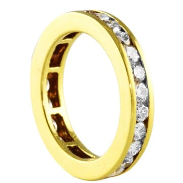 1.90 CT DIAMOND CHANNEL SET YELLOW GOLD ETERNITY BAND