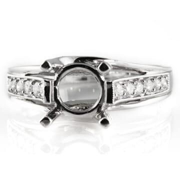 DIAMOND WHITE GOLD ENGAGEMENT RING SETTING