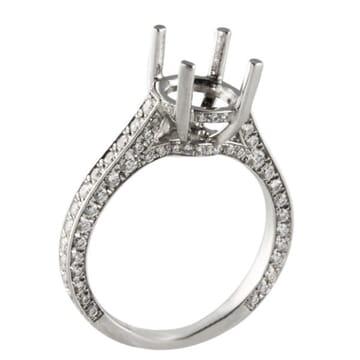 PLATINUM DIAMOND ENGAGEMENT RING SETTINGS