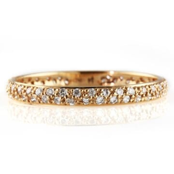 .42 CT DIAMOND TWO-ROW ROSE GOLD ETERNITY BAND