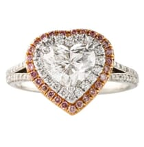 1.28 ct Heart Shape Diamond Platinum Engagement Ring