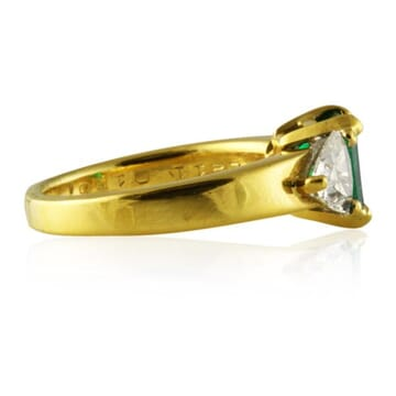 2.11 ct Emerald 18K Yellow Gold Engagement Ring