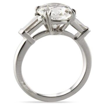 2.18 ct Round Diamond Platinum Engagement Ring