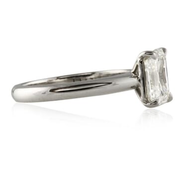 2.11 ct Emerald Cut Diamond Platinum Engagement Ring