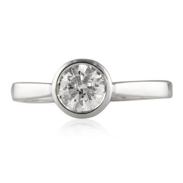 Round Diamond 14K White Gold Engagement Ring