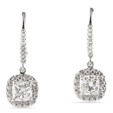 DIAMOND PLATINUM DANGLE EARRINGS