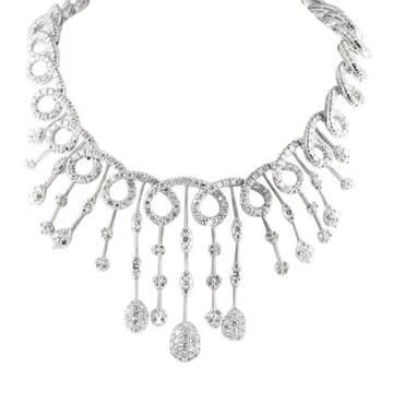 EXCLUSIVE DIAMOND 18K WHITE GOLD NECKLACE