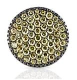 CHAMPAGNE DIAMONDS 18K BLACKENED GOLD RING