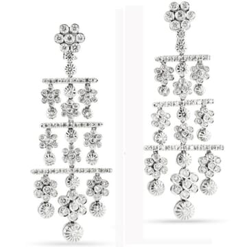 DIAMOND 18K WHITE GOLD CHANDELIER EARRINGS