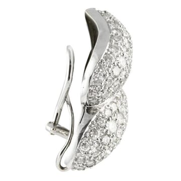 DIAMOND 18K WHITE GOLD CLUSTER EARRINGS