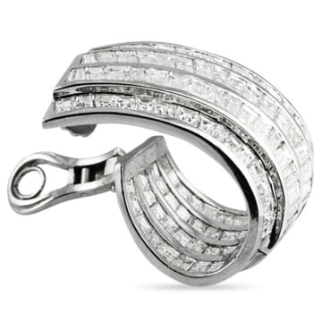 DIAMOND BAGUETTE 18K WHITE GOLD EARRINGS