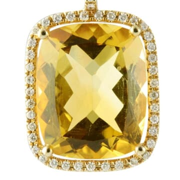 CITRINE AND DIAMOND 18K YELLOW GOLD DANGLE EARRINGS