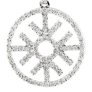 DIAMOND SNOWFLAKE 18K WHITE GOLD DANGLE EARRINGS