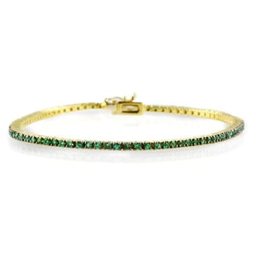 EMERALD 18K YELLOW GOLD THIN BRACELET