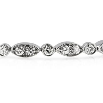DIAMOND 18K WHITE BRACELET