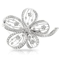 Diamond Platinum Large Brooch Pin