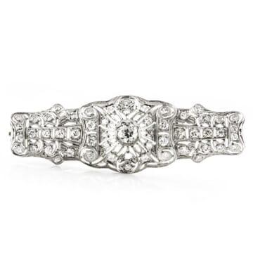 Diamond 18K White Gold Brooch Pin