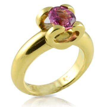 SAPPHIRE 18K YELLOW GOLD RING
