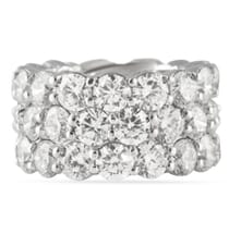 15.32 CT DIAMOND PLATINUM ETERNITY WEDDING BAND RING