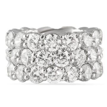 15.32 CT DIAMOND PLATINUM ETERNITY WEDDING BAND RING