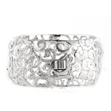 DIAMOND 18K WHITE GOLD CUFF BRACELET