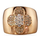 CHAMPAGNE AND WHITE DIAMOND 18K ROSE GOLD RING