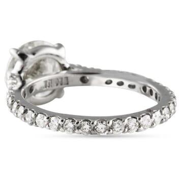 2.01 ct Round Diamond Platinum Engagement Ring