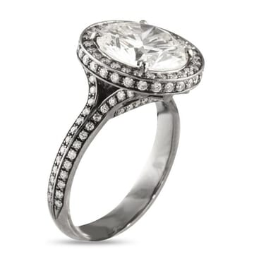 Round Diamond 14K Gold Engagement Ring