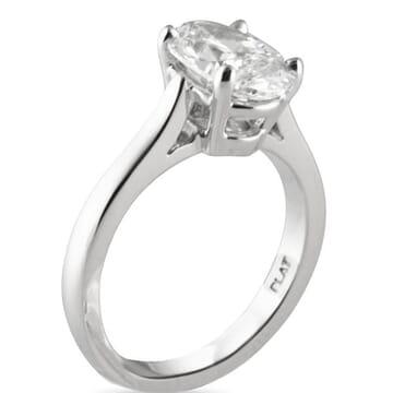 2.15 ct Oval Diamond Platinum Engagement Ring