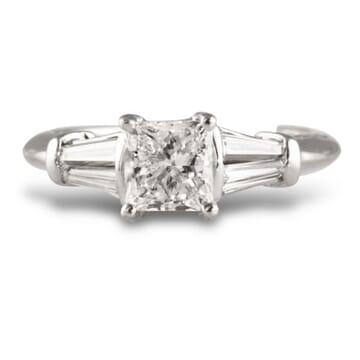 1.01 ct Princess Cut Diamond Platinum Engagement Ring