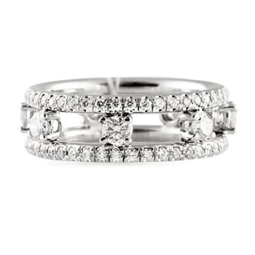 2.20 CT DIAMOND PLATINUM ETERNITY WEDDING BAND RING