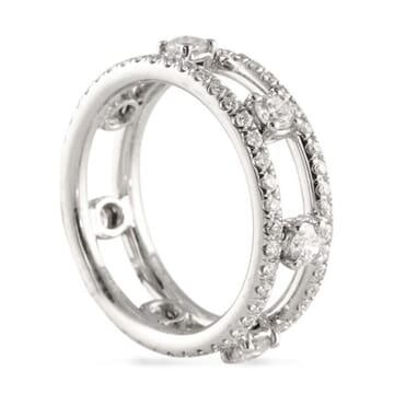 2.20 CT DIAMOND PLATINUM ETERNITY WEDDING BAND RING