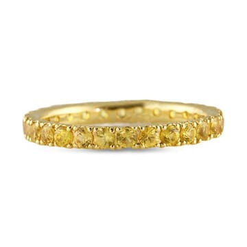 Yellow Sapphire 18K Gold Eternity Band
