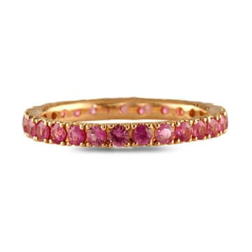 PINK SAPPHIRE ROSE GOLD ETERNITY BAND