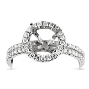 DIAMOND PLATINUM ENGAGEMENT RING SETTING