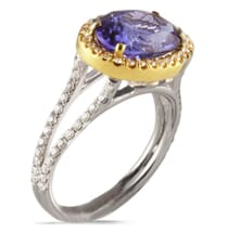 Tanzanite and Dimaond 18K Gold Ring