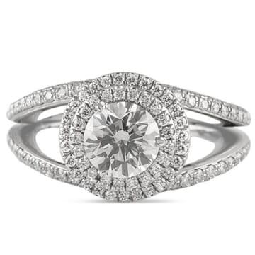 1.12 ct Round Diamond Platinum Engagement Ring