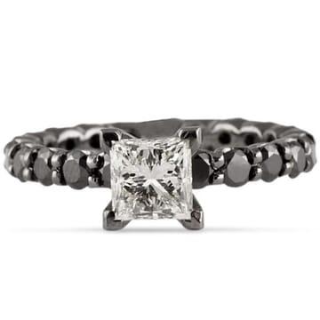 1.17 ct Princess Diamond 14K Gold Engagement Ring