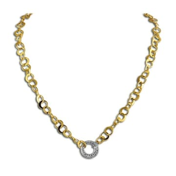 DIAMOND 18K YELLOW GOLD NECKLACE