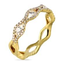 DIAMOND 18K OPEN DESIGN YELLOW GOLD RING