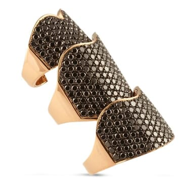 Black Diamond 18K Rose Gold Ring