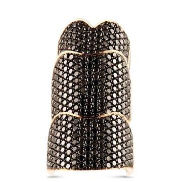 Black Diamond 18K Rose Gold Ring