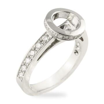 'MADE BY HAND' DIAMOND PLATINUM ENGAGEMENT RING SETTING